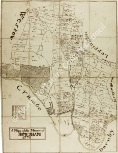 Historic map of Howsham 1776